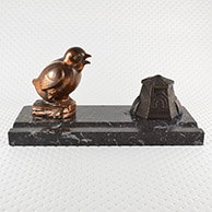 Antique Inkstand - Bird - The Chick