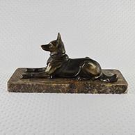 Escultura Antiga - Cão - Pastor-alemão
