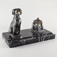 Tinteiro Antigo - Cão