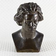 Escultura Antiga - Compositor - Busto de Ludwig van Beethoven (1770-1827)