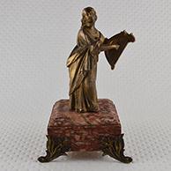 Escultura Antiga - Jovem Mulher - Musa Tocando Lira