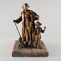 Escultura Antiga - O Sacerdote e a Criança - Cão - Carneiro