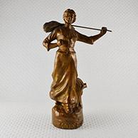 Antique Sculpture - Moisson - Farm Girl during the Harvest