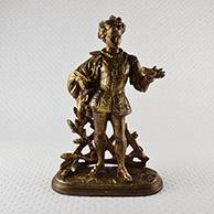 Escultura Antiga - Cinderela - O Príncipe Encantado e o Sapatinho de cristal