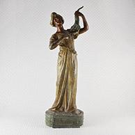 Escultura Antiga - Le Printemps - Alegoria da Primavera - Jovem Mulher com um Corno da Abundância