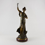 Antique Sculpture - Pax - Allegory of the Peace - Young woman with an Olive Branch
