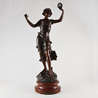 Escultura Antiga - Farandole - Bailarina com Tamboril