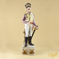 Antica Porcellana - Soldato Napoleonico - Ufficiale - Chasseur